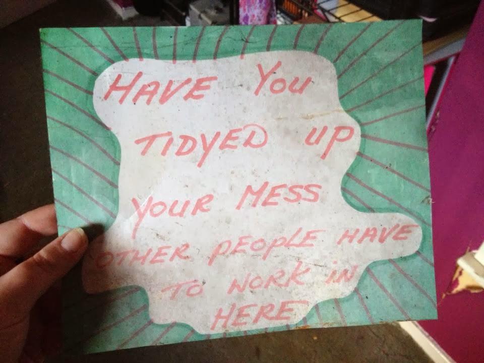 Mum's note!