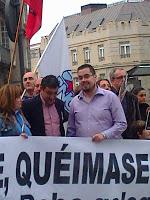 Manifestación polas Fragas do Eume en Vigo, abril 2012