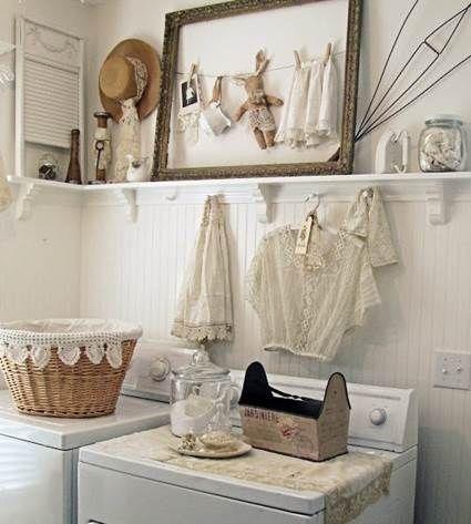 Mi estilo shabby chic: cuartos de lavado shabby chic