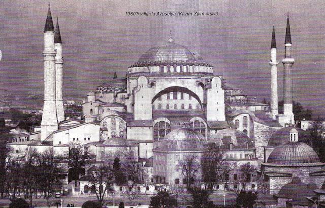 1980'li yıllarda Ayasofya Camii (Kazım Zaim Arşivi)