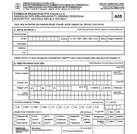 CARA REGISTRASI PTK UNTUK MENDAPATKAN PegID (Pegawai Register ID ...