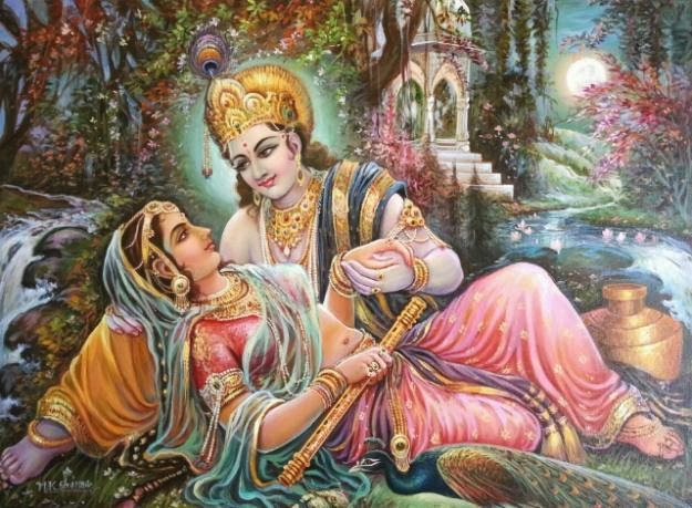 Divine beauty for Mural radha krishna