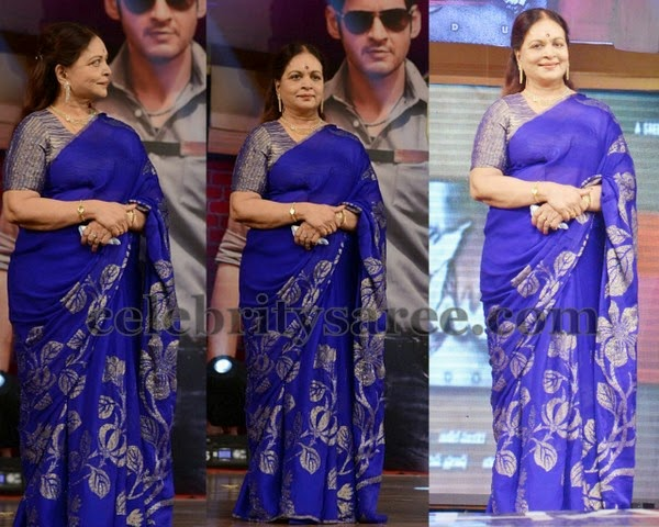 Vijaya Nirmala Purple Silk Saree