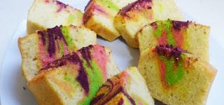 Rainbow Egg White Cake
