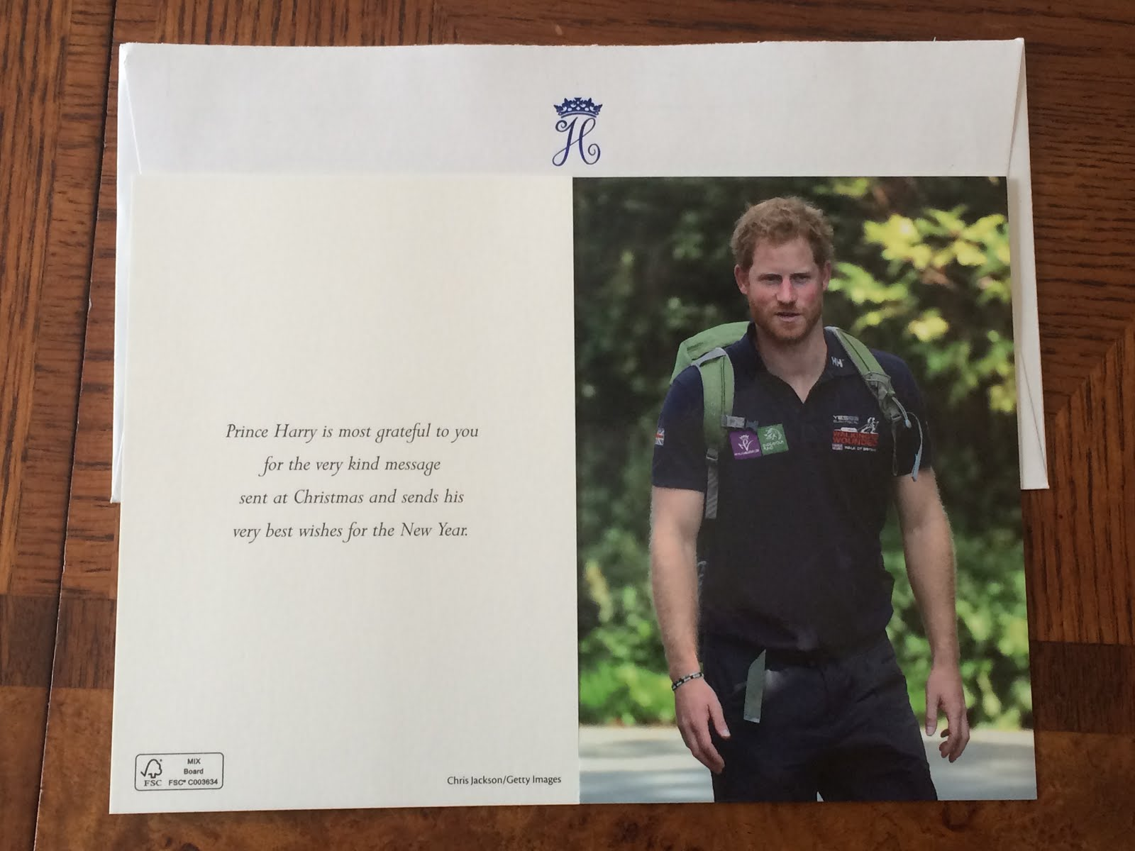 Gert's Royals: Prince Harry Christmas Card