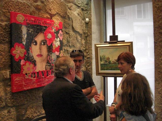 Agostinho Costa with the painters Francisco and Eulália