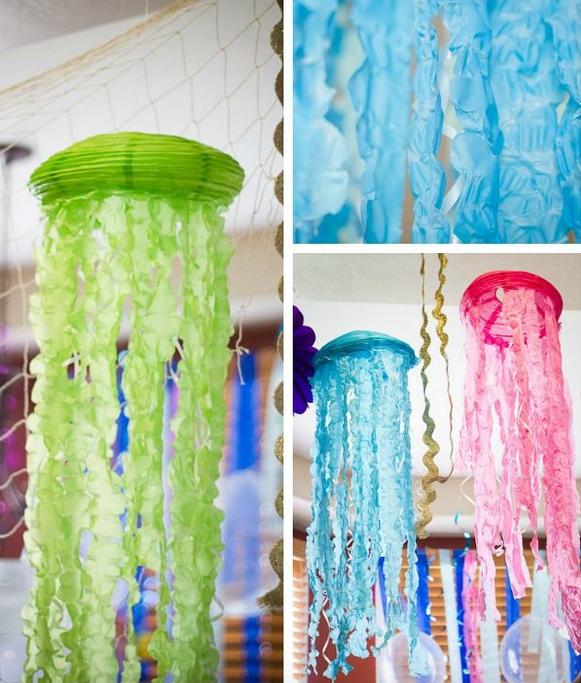 Diy medusas con globos de papel - Decorar con papel ...