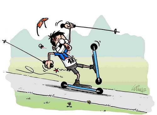 Dessin Skieur Humoristique benoît chauvet, skieur écrivain: un dessin pour rire