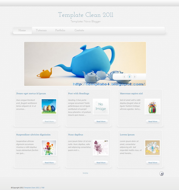 Super Clean Blogger Template