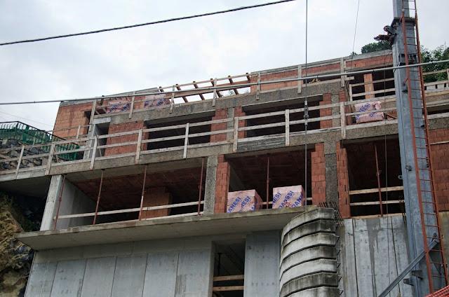 Baustelle Strada Statale 583, Nesso CO, Italien, 12.10.2014