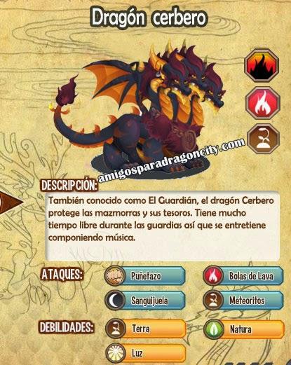 imagen del dragon cerberus y sus caracteristicas