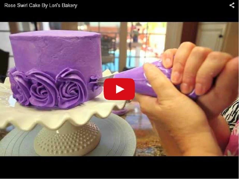 Как сделать розочку для украшения торта