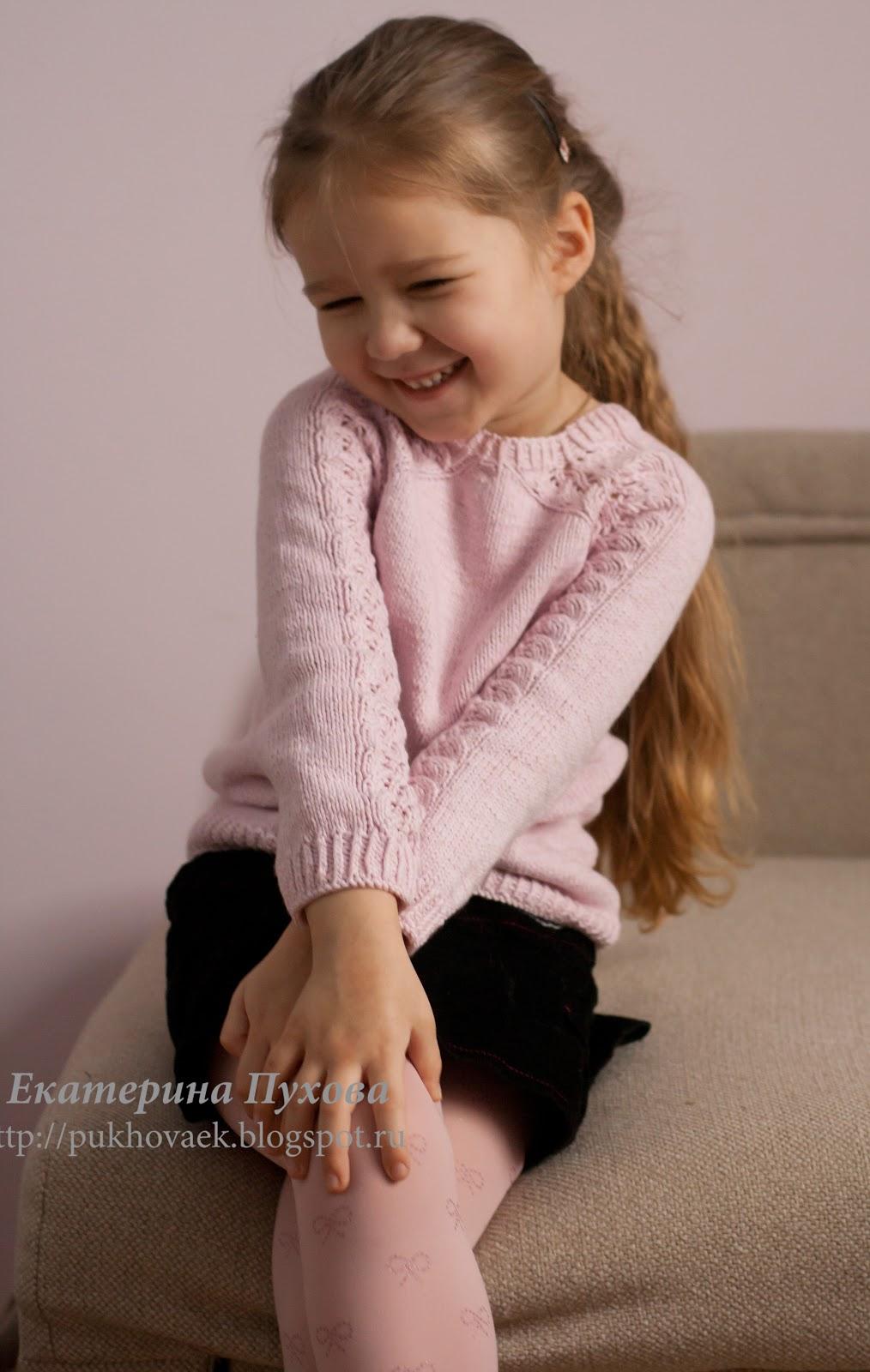 Пуловер для дочки от Светланы Волковой - Вяжем вместе 40