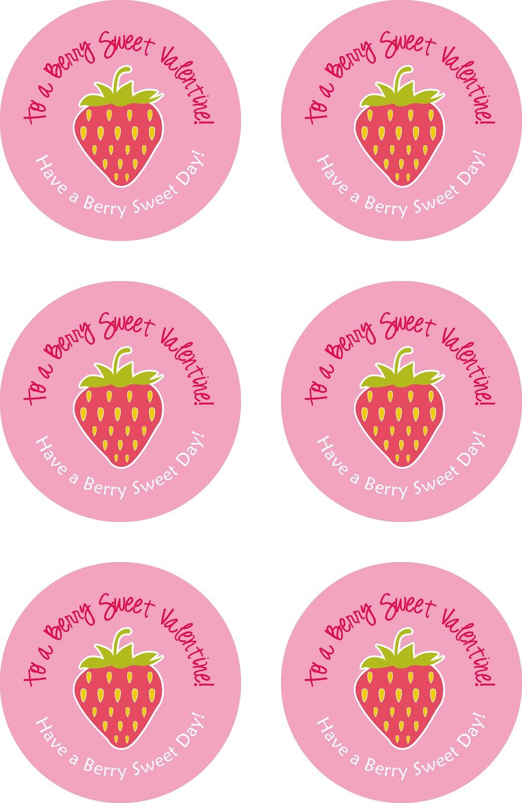strawberry themed valentine printable