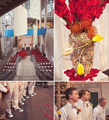 semplicemente perfetto wedding supereroi rosso giallo arancione