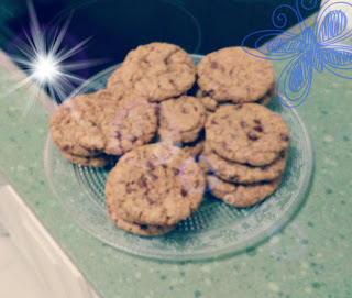 galletas con pepitas de chocolate y avena