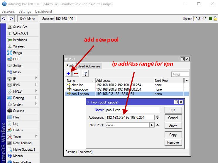 How to Make PPTP VPN Server Mikrotik