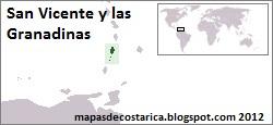 Localización geográfica de San Vicente y las Granadinas