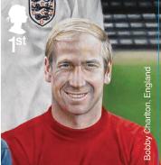 Bobby Charlton stamp.