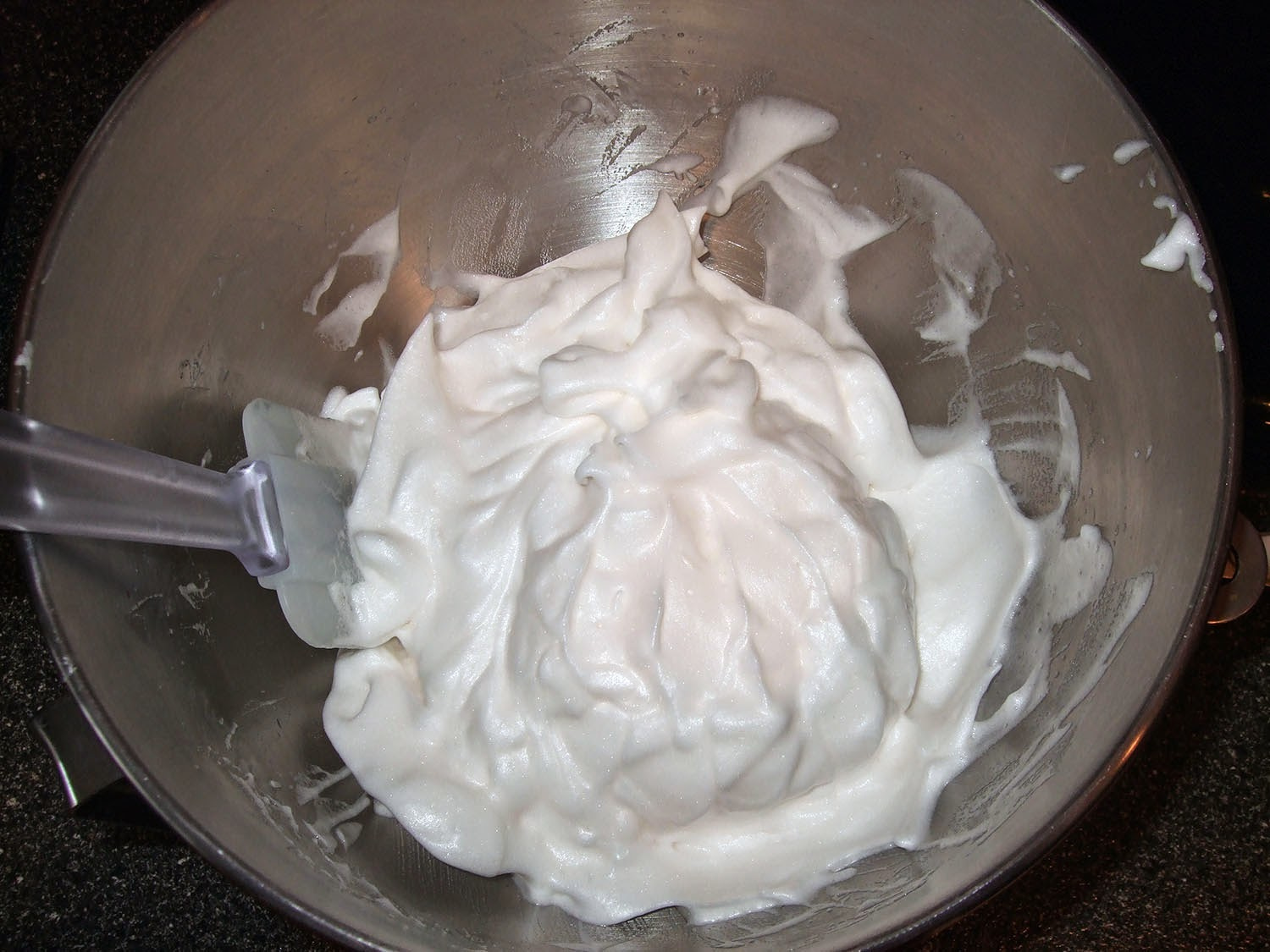 Whipped meringue.