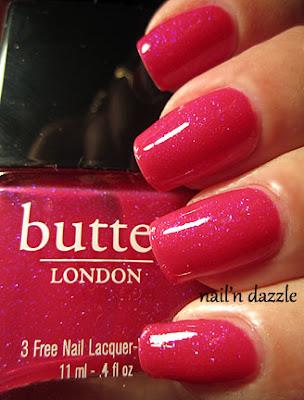 butter london, pink polish, glitter, disco biscuit, pink, polish, glitter, nail'n dazzle, nailndazzle, nail, dazzle