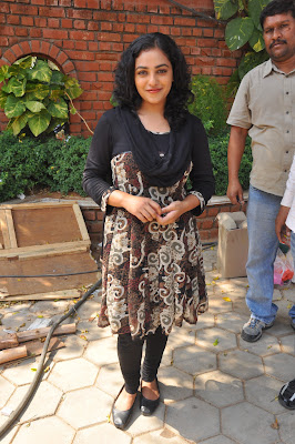 nitya menon new @ okkadine onlocation cute stills