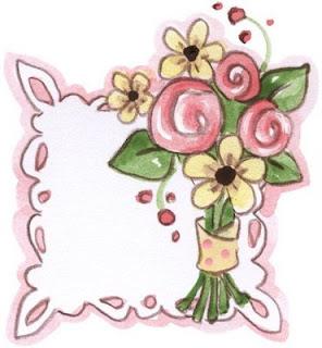 etiquetas con rosas