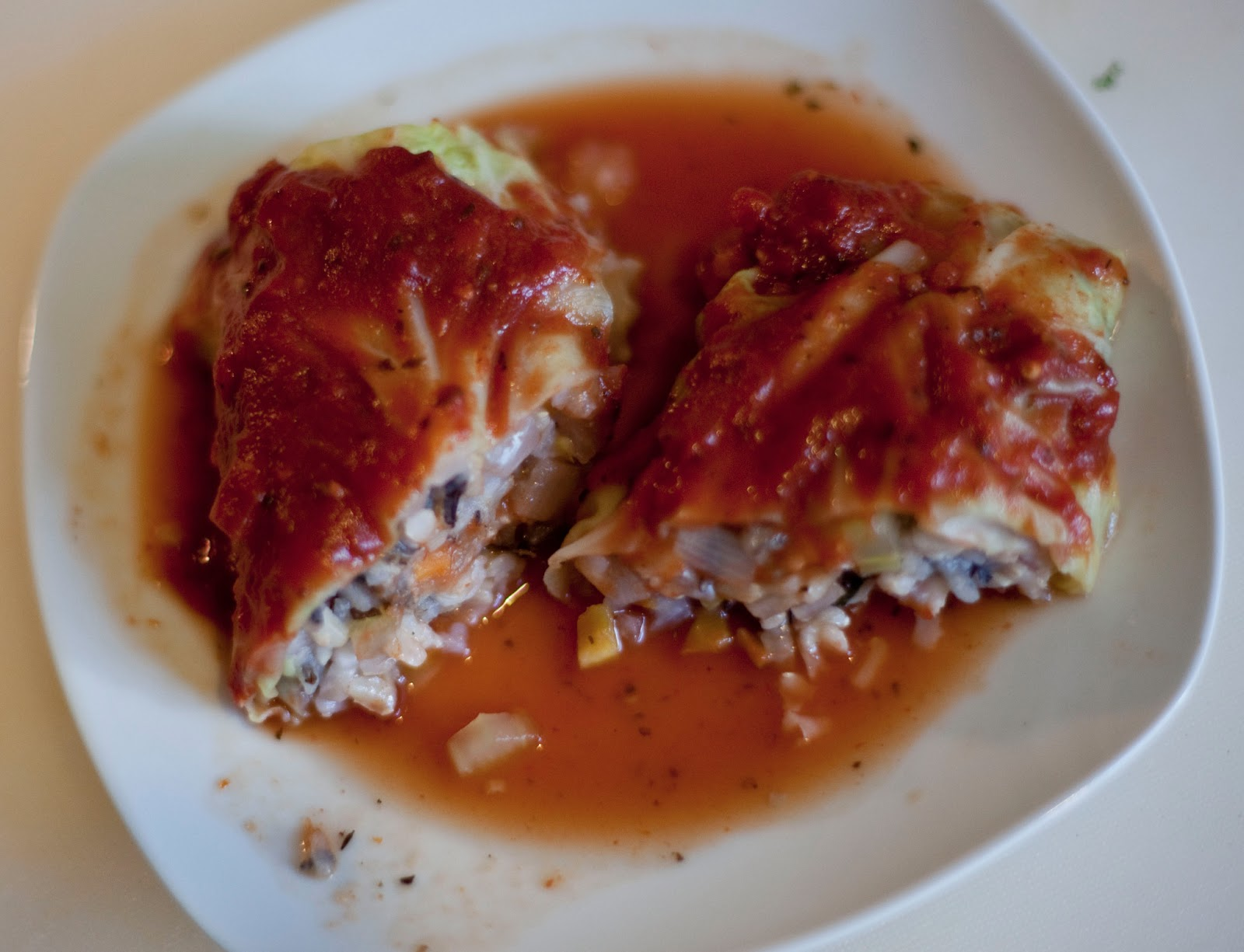 Amanda Raw: Wild Rice- Stuffed Cabbage Rolls from Forks ...