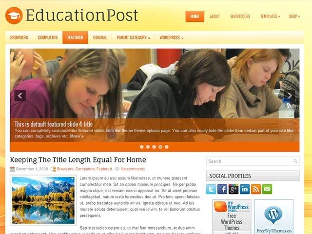 EducationPost - Free Wordpress Theme
