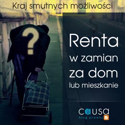 Renta w zamian za dom lub mieszkanie