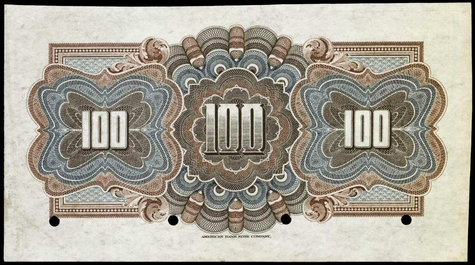Guatemala 100 pesos banknote 1917 1925 banco internacional for Banco internacional