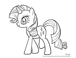 My Little Ponies Unicorn Coloring Page