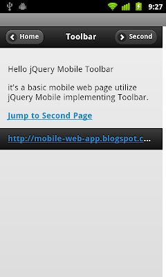 Header Toolbar of jQuery Mobile