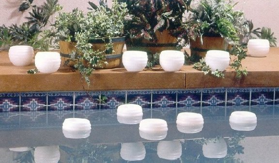 Floating candles pool for Floating candles swimming pool wedding