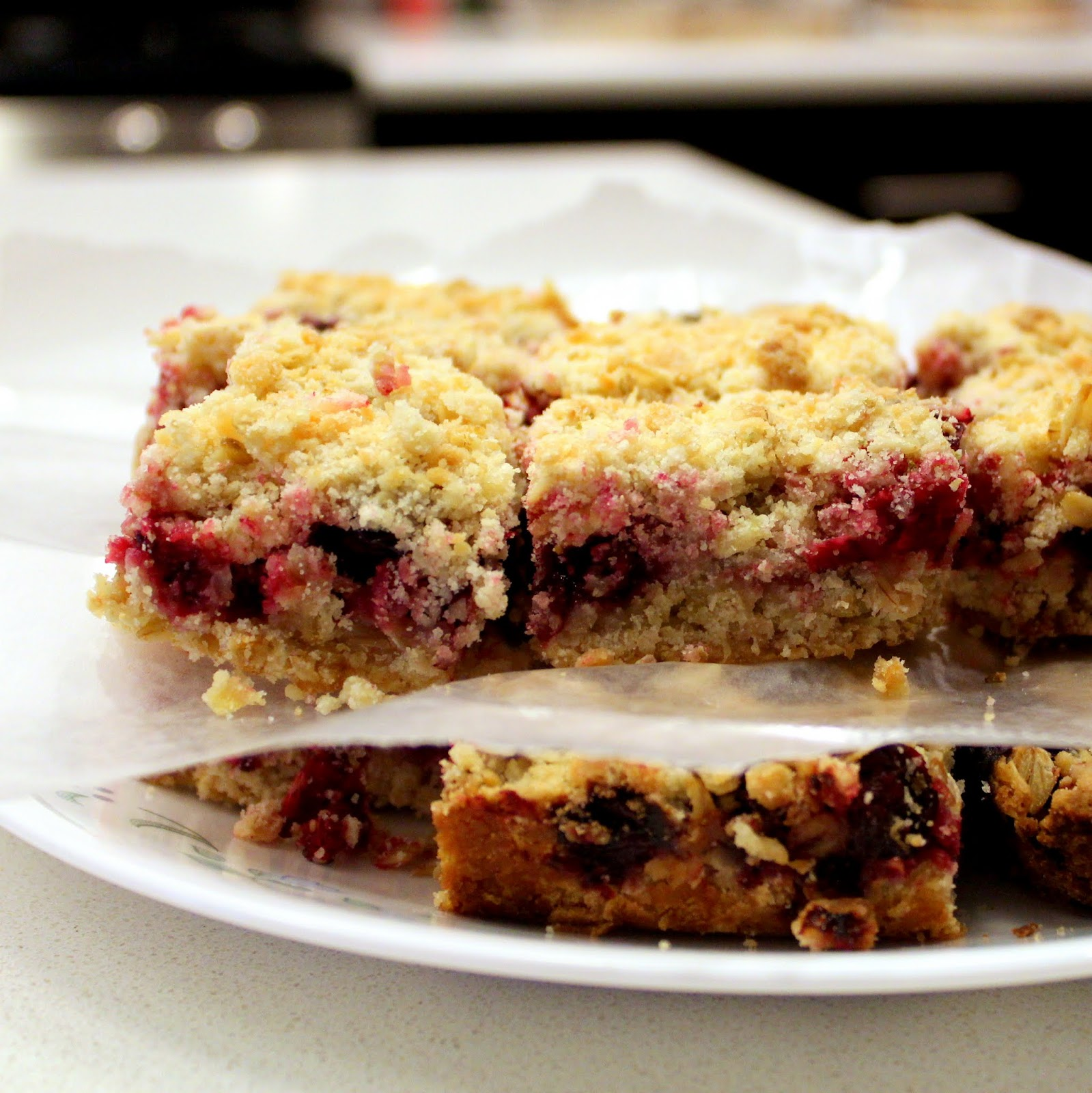 Cranberry Crumb Bars lemon berries dessert
