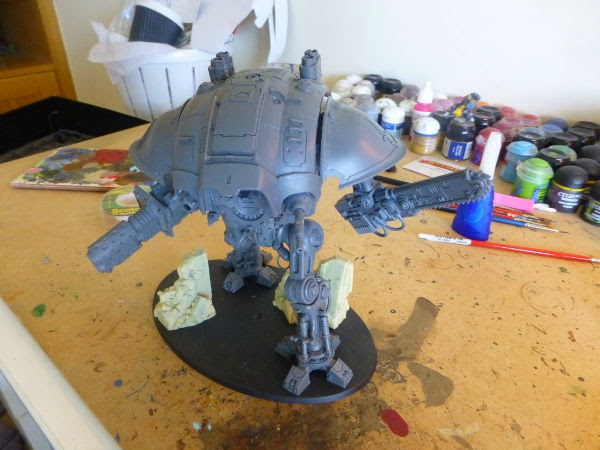WIP Imperial Knight - shoulders!!!!