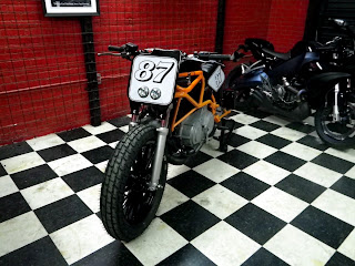 "Buell Flat tracker ( Buell blast flat tracker, Buell street tracker ) By Wonder Customs Motorcycles. They built a custom gas tank, tail, number plate and light housing, side mount license plate, Hub adaptors for 19"" wheels and race tires"