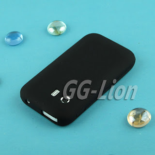 black.Silicone soft Case Skin Cover for Samsung Galaxy Y / S5360