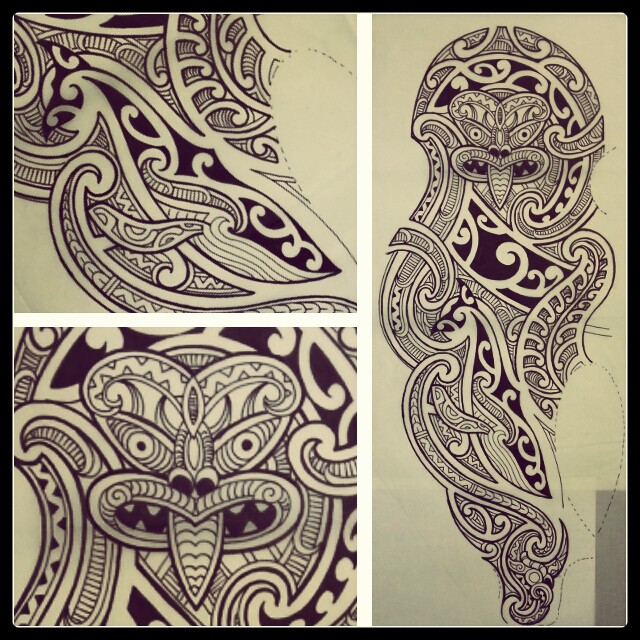 Dessin de tatouage polynesien et tattoo tribal maori  - tatouage polynesien dessin