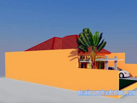 Desain rumah type 120/220 - samping kiri