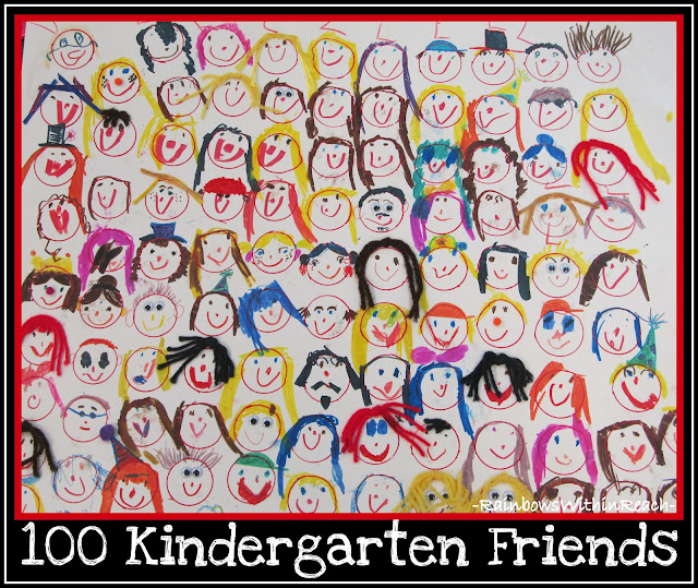 photo of: 100 Kindergarten Friends Child's Drawing