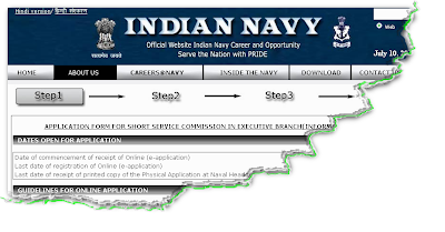 Indian Navy IT officer recruitment 2012 Online application form