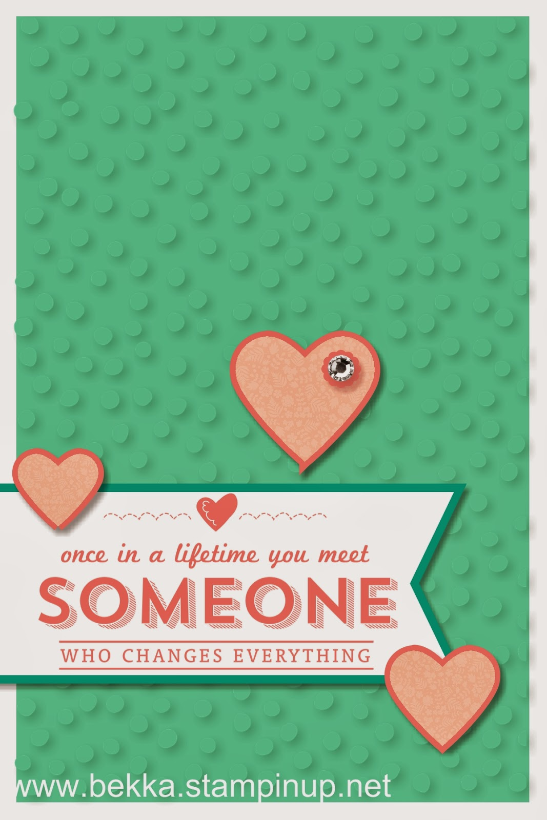 Someone Who Changes Everything Digital Card by UK based Stampin' Up! Demonstrator Bekka Prideaux - check her blog every Monday for digital inspiration
