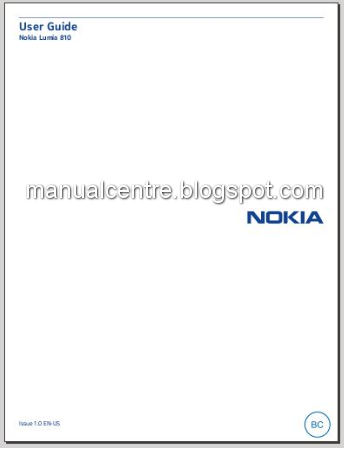 Nokia Lumia 810 Manual Cover