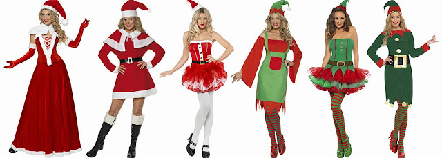 Ladies Christmas Fancy Dress Mrs Claus Costime