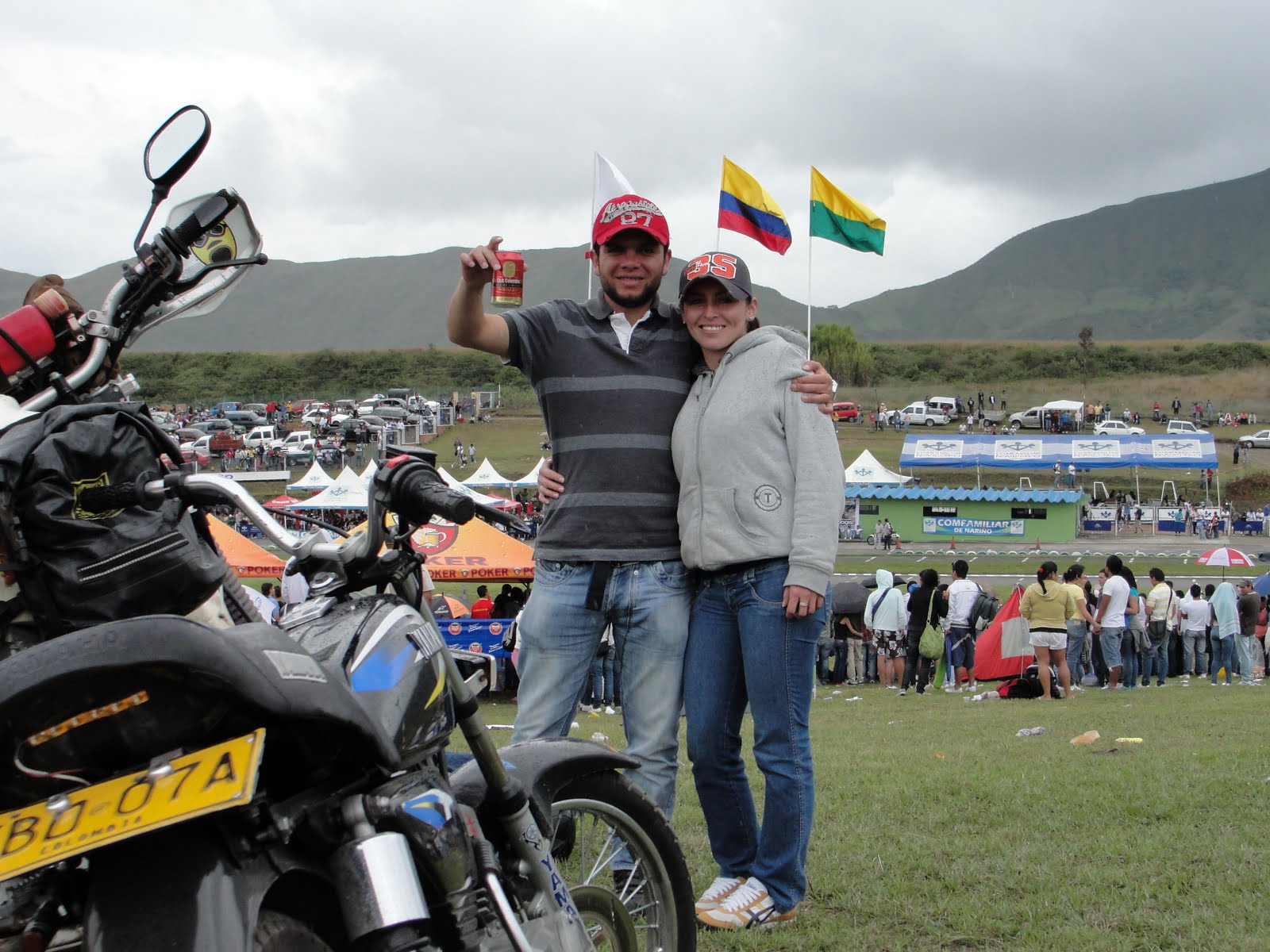 7C BROWN BUST IT BIG Motorcycle Race Columbia Style