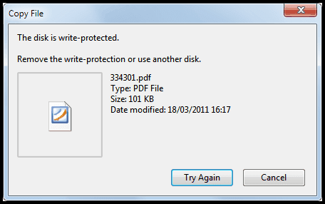 how to format write protected memory card