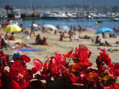A Ribeira Beach in Baiona