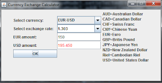 Currency Exchange Calculator in Java