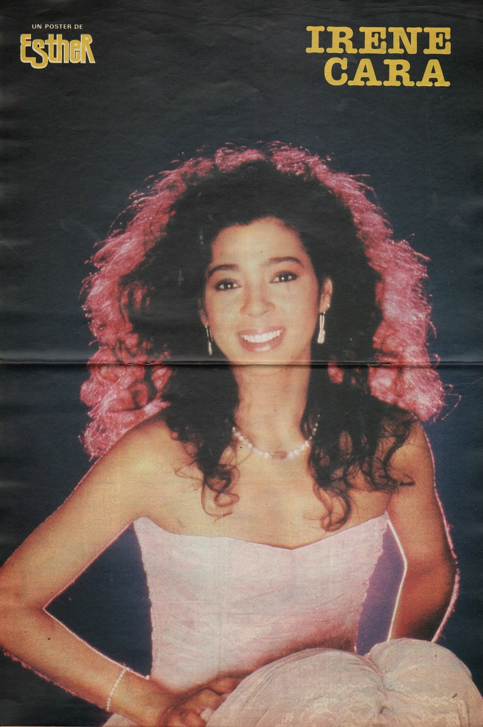 Kids From Fame Media: Irene Cara Spanish Esther Poster 1983